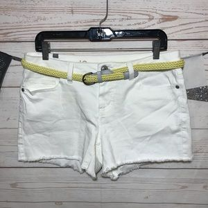 LC Lauren Conrad Cutoff Belted Jean Shorts Size 10